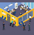 employment recruitment isometric composition vector image vector image