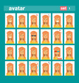 female different emotion set profile icon woman vector image vector image