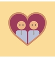 flat icon on stylish background gays in the heart vector image