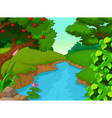 forest with river for you design vector image