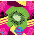 Fresh Seamless Fruit Futuristic Pattern vector image