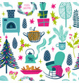 funny seamless pattern christmas symbols vector image vector image