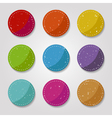grungy buttons vector image vector image