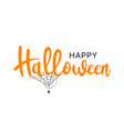 happy halloween lettering and typography vector image