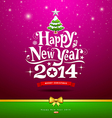 Happy New Year lettering Greeting Card vector image vector image