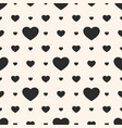 hearts seamless pattern geometric texture vector image