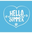 Hello Summer funny vector image