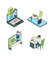 home education online lessons children study vector image