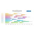 infographic timeline calendar with gantt chart vector image vector image