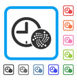 iota time framed icon vector image vector image