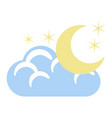 isolated night weather icon vector image