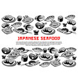 japanese seafood poster of rolls and sushi vector image vector image