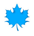 leaf cut origami blue background vector image