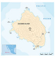 map mexican pacific island socorro vector image