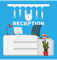 modern reception interior vector image