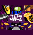 musical live jazz band concert of banner vector image vector image