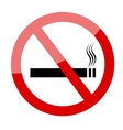 No smoking sign Smoking prohibited symbol vector image