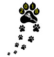 pet symbol footprints dog puppy animal of vector image
