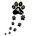 pet symbol footprints of dog puppy animal vector image