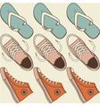 Seamless hip shoe collection vector image