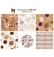 set coffee seamless pattern phrase all you need vector image