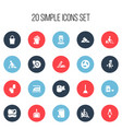 set of 20 editable cleanup icons includes symbols vector image vector image