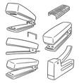 set of stapler vector image