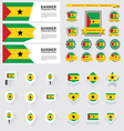 SET sao tome and principe vector image