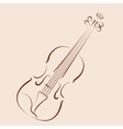 Sketched violin vector image