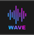sound wave logotype of sound and music vector image vector image