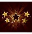 star on a brown background vector image vector image
