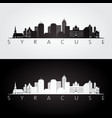 Syracuse usa skyline and landmarks silhouette