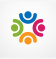 teamwork businessman unity and cooperation vector image vector image