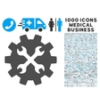 Tools Icon with 1000 Medical Business Pictograms vector image vector image