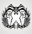 Tribal Gemini vector image vector image