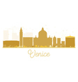 Venice City skyline golden silhouette vector image vector image