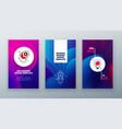 vertical banner design for social networks vector image vector image