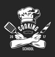 vintage cooking classes logo vector image vector image