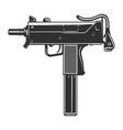 vintage uzi weapon concept vector image