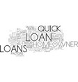 a guide to quick homeowner loans text word cloud vector image vector image