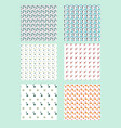 a set seamless patterns set geometric vector image