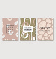 abstract contemporary art covers set vector image