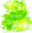 Abstract green watercolor background vector image vector image