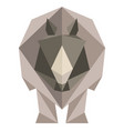 abstract low poly rhino icon vector image vector image