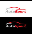 autosport logo vector image vector image