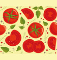 background with tomatoes vector image
