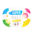 banner super sale of 50 off concept for big vector image