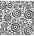 black and white decorative ikat doodle vector image vector image
