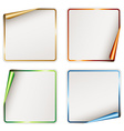 blank festive stickers vector image vector image