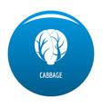 cabbage icon blue vector image vector image